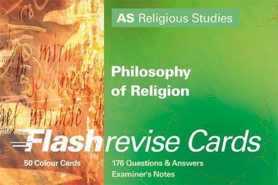 Flash Revise Cards A5 Religious Studies: Philosophy of Religion by Gordon Reid image