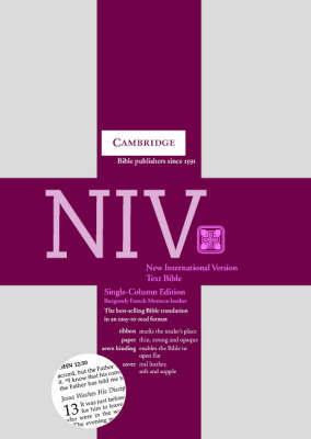 NIV Single Column Text Edition Burgundy French Morocco NI173 image