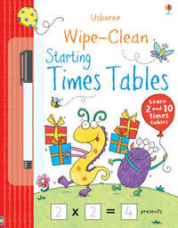 Wipe-clean Starting Times Tables by Jessica Greenwell