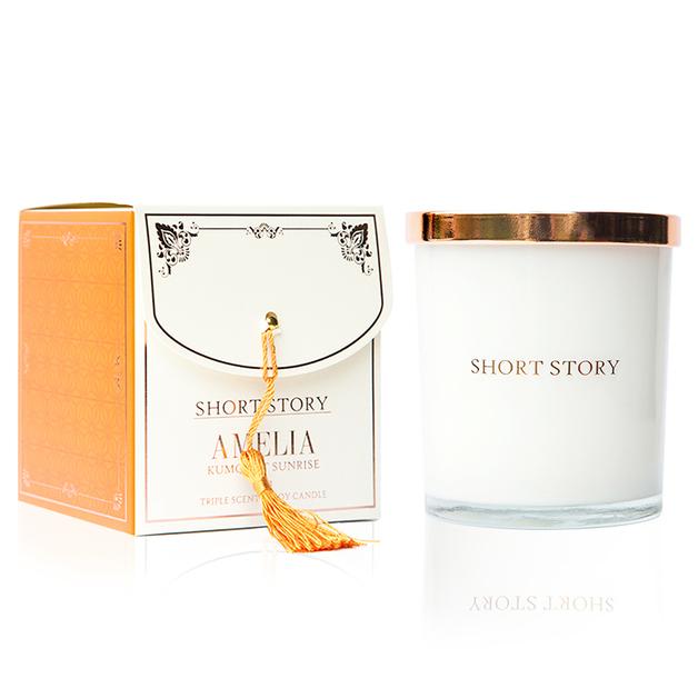 Short Story: Triple Scented Soy Candle - Amelia (Kumquat Sunrise)