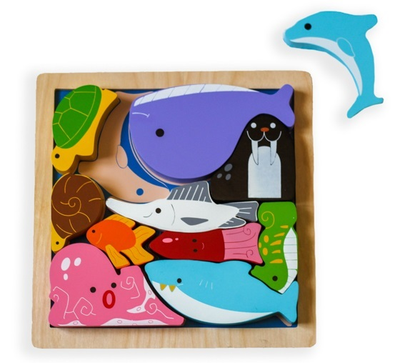 Kiddie Connect: Sea Creatures - Chunky Wooden Puzzle
