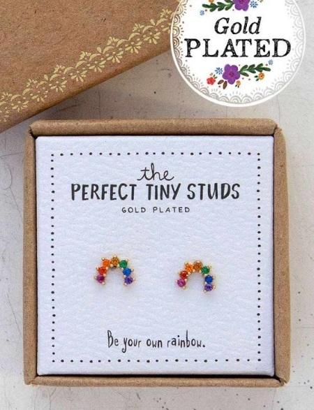 Natural Life: Perfect Tiny Studs - Rainbow image