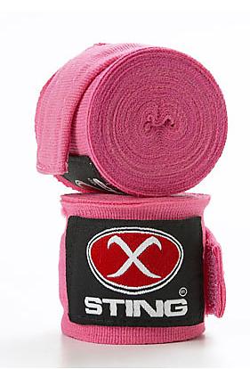 Sting Elasticised Hand Wraps - Hot Pink (4M)