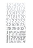 Kaisercraft: Number Stickers - Metallic Silver