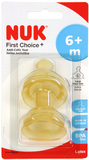 NUK: First Choice+ - Latex Teats - Size 2 Large hole - 2pk