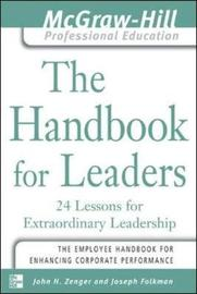 The Handbook for Leaders by John H Zenger image