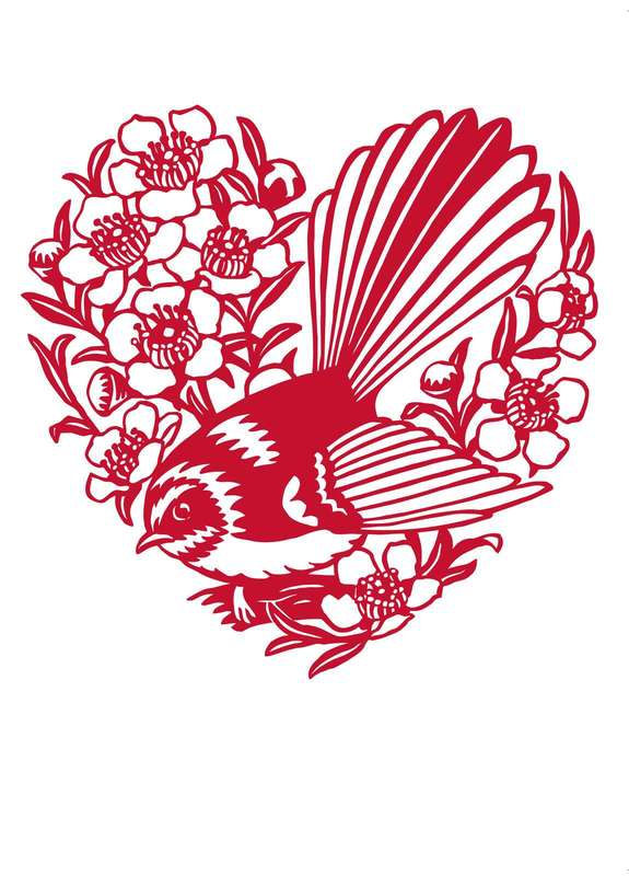 Fantail & Manuka Anniversary Love Card