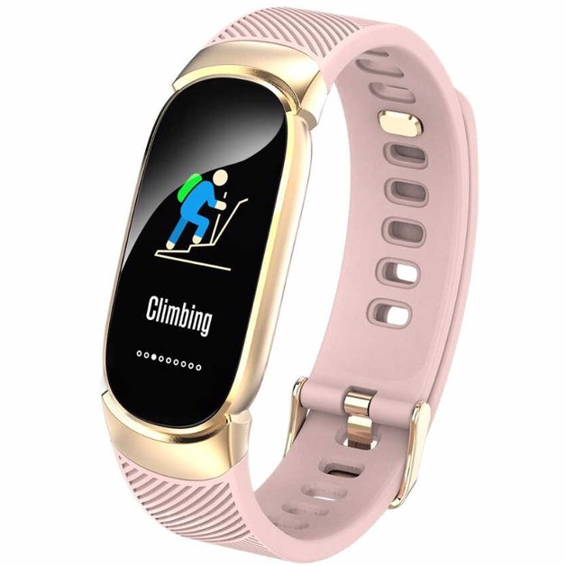 Waterproof Bluetooth Fitness Tracker - Pink