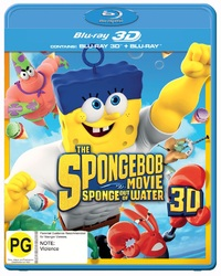 Spongebob Squarepants: Sponge Out Of Water on Blu-ray, 3D Blu-ray