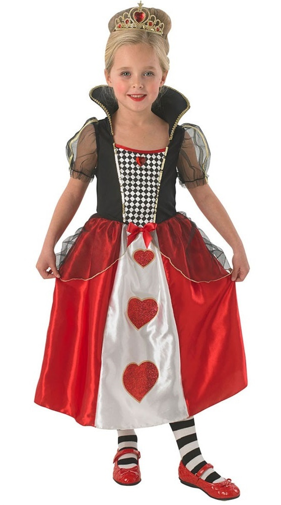 Disney: Queen of Hearts Girls Costume - (Small) image