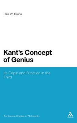 Kant's Concept of Genius by Paul W. Bruno image