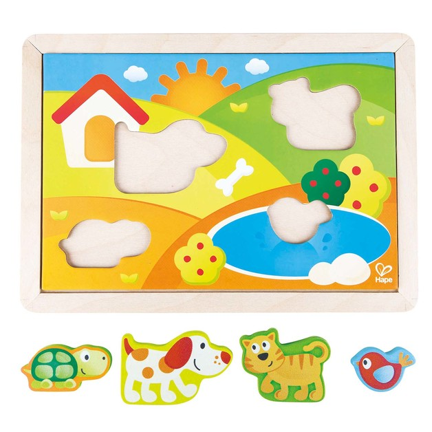 Hape: Sunny Valley Puzzle 3 N 1