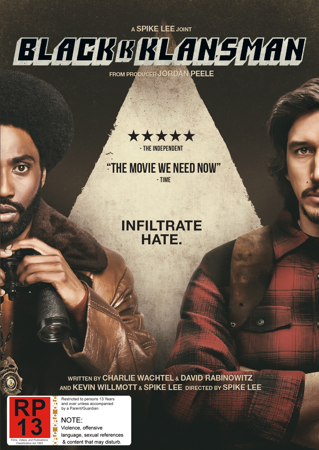 Blackkklansman on DVD image