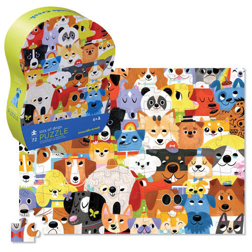 Crocodile Creek: 72-Piece Junior Shaped Puzzle - Lots of Dogs