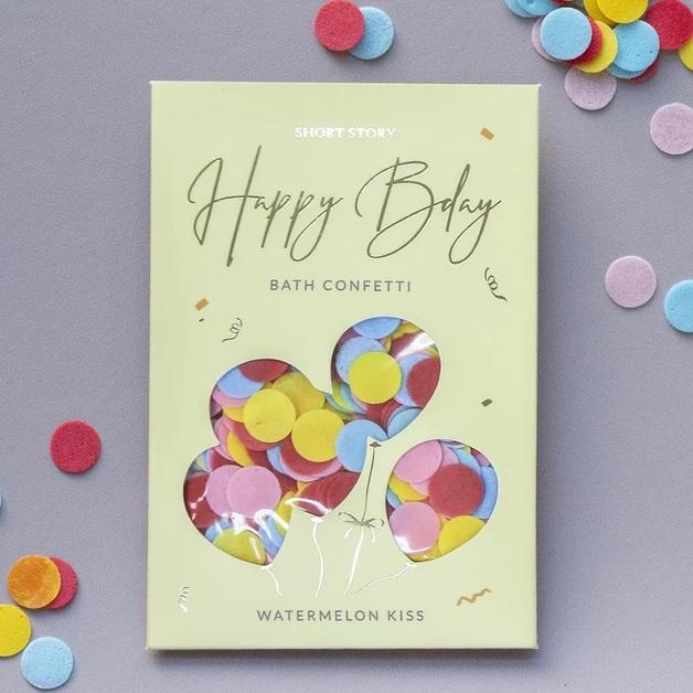 Short Story Bath Confetti - Happy Birthday (Watermelon)