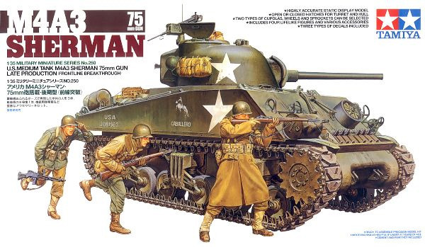 Tamiya M4A3 Sherman 75mm Front Line Breakthrough 1:35 Model Kit