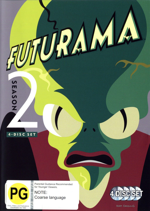 Futurama - Season 2 (4 Disc Slimline Set) on DVD