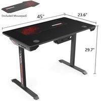 Eureka I44 Ergonomic Gaming Desk (Black) for