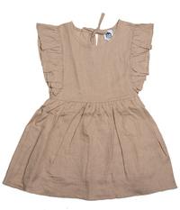 Cheeky Chimp: Linen Short Sleeved Dress - Tan (Size 5)