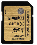 64GB Kingston - SDXC Ultimate Memory Card (Class 10 UHS-I)