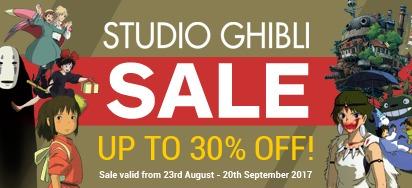 Up to 30% off Studio Ghibli Movies!