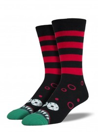 Mens Monster Mouth Crew Socks
