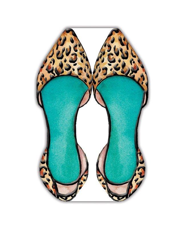 Lady Jayne: Die-Cut Notepad - Leopard Shoe