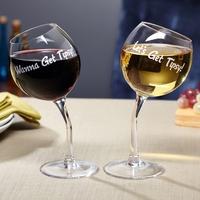 BigMouth Inc - Tipsy Wine Glasses Set