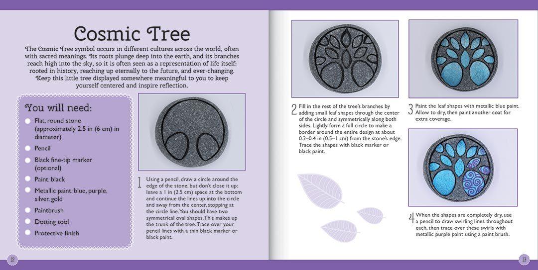 Craftmaker: Metallic Stone-Art Kit - Cosmic Tree image