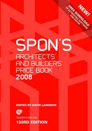 Spon's Architects' and Builders' Price Book: 2008 by Davis Langdon image