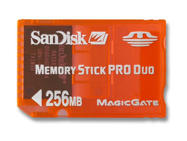 SanDisk MemoryStick Pro Duo Gaming 256MB Memory image