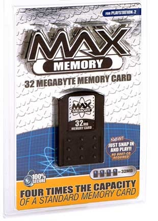 MAX PS2 Memory Card - 32MB for PlayStation 2
