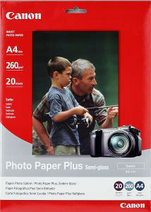 Canon SG-201 A4 Semi Gloss Satin 260gsm Photo Paper (20 Sheets) image