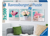 Ravensburger 3x500 Piece Jigsaw Puzzle - Floral Delights