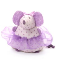 Gund: Ballerina Mouse - Purple Polka Dot