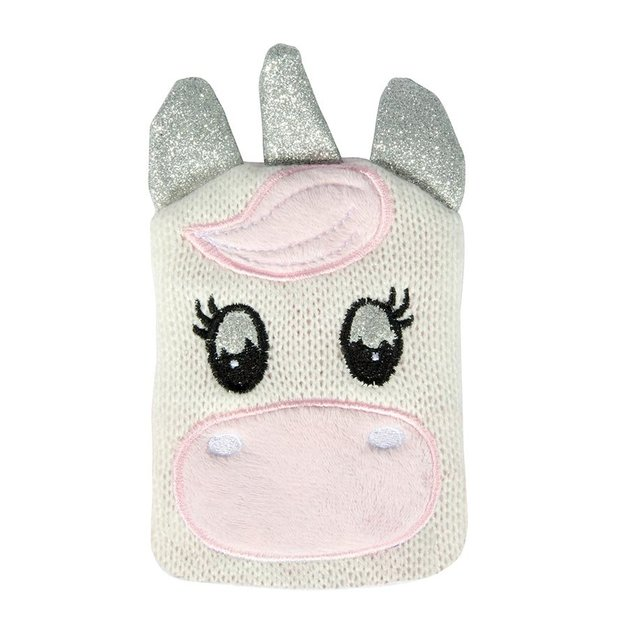 Pocket Hotty with Knitted Cover - Unicorn