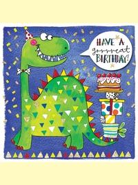 Rachel Ellen: Birthday Dinosaur Card