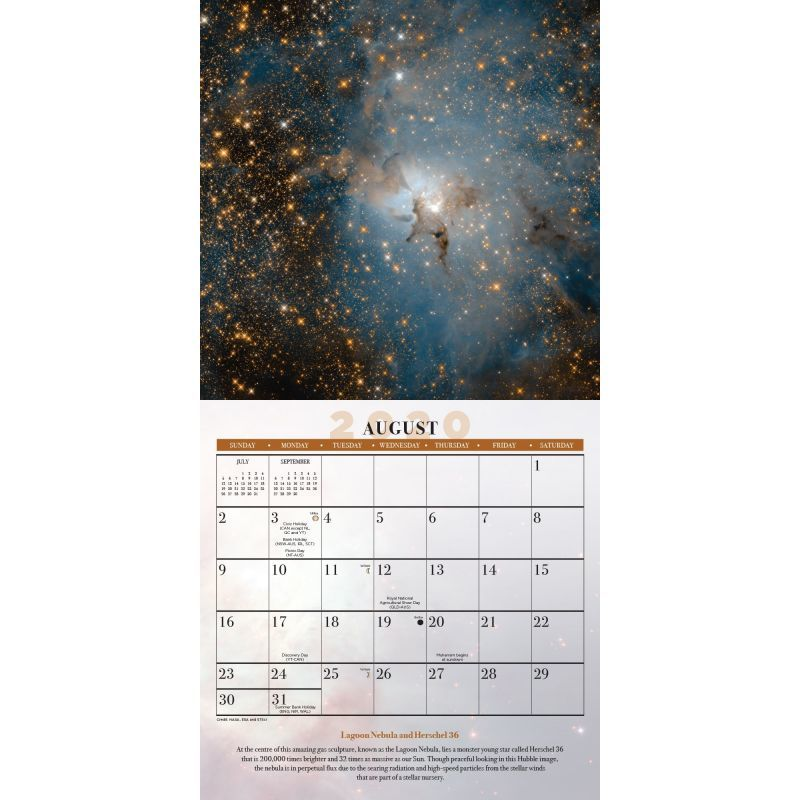 Hubble Space Telescope 2020 Square Wall Calendar image