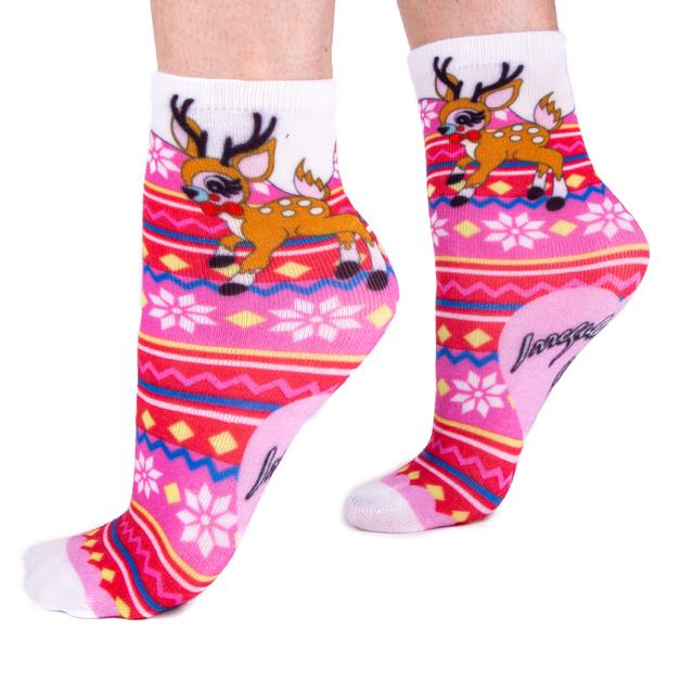 Irregular Choice: Reindeer Socks
