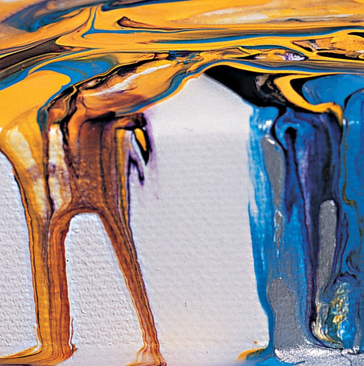 Pouring Gloss Paint On Canvas