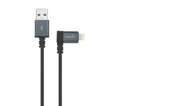 Moshi Lightning to USB Cable with 90 Degree Connector - Black