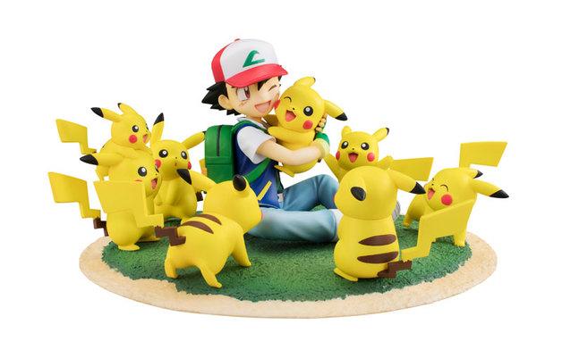 Pokemon: G.E.M. - Ash & Pikachu (Many Pikachu Ver.) - Figure Diorama