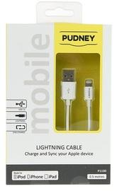 Pudney: USB A Plug To Lightning Plug 0.5 Metre - White