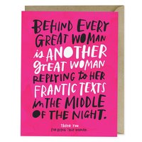 Emily McDowell: Behind Every Great Woman - Greeting Card image
