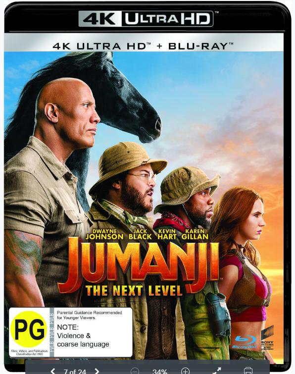 Jumanji: The Next Level (4K Ultra HD Blu-ray) on UHD Blu-ray image