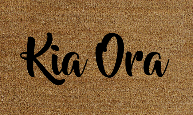 Natural Fibre Doormat - Kia Ora
