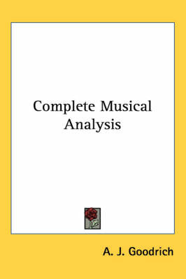 Complete Musical Analysis by A. J. Goodrich image