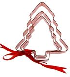 Tree Cookie Cutters - Copper Plated (Set Of 3)