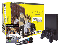 Playstation 2 Console with SingStar R&B with Microphones for PlayStation 2 image