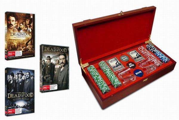 Deadwood - Ultimate Poker Collection: Seasons 1-3 + Poker Set (12 Disc Box Set) on DVD